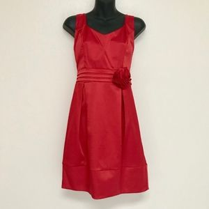 Red Heart Shape Cutout Open Back Dress NWOT